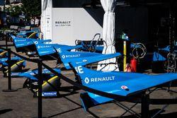 I garage della Renault e.Dams