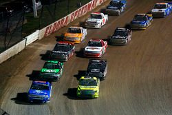 Matt Crafton, ThorSport Racing Toyota and Stewart Friesen, Elaine Larsen Motorsports Chevrolet