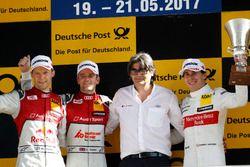 Podium: ganador, Jamie Green, Audi Sport Team Rosberg, Audi RS 5 DTM, segundo, Mattias Ekström, Audi
