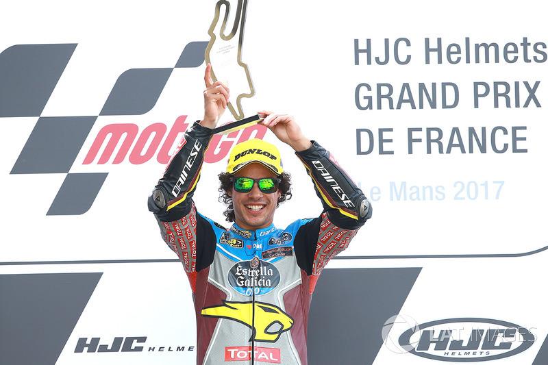 Il vincitore Franco Morbidelli, Marc VDS