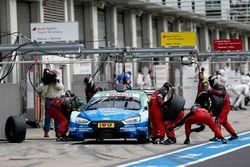 Arrêt au stand : Loic Duval, Audi Sport Team Phoenix, Audi RS 5 DTM