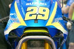 Andrea Iannone, Team Suzuki MotoGP with erodynamic wing Suzuki fairing