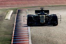 Nico Hulkenberg, Renault Sport F1 Team RS17., carries sensor equipment