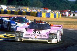 John Watson, Bruno Giacomelli, Allen Berg, Porsche 962C, leads Bob Earl, Michael Roe, Steve Millen,