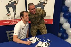 Brad Keselowski with military members