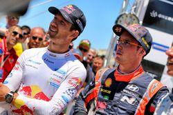 Sébastien Ogier, M-Sport, Ford Fiesta WRC and Thierry Neuville, Hyundai Motorsport, Hyundai i20 Coup