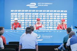 Felix Rosenqvist, Mahindra Racing, Lucas di Grassi, ABT Schaeffler Audi Sport, e Nick Heidfeld, Mahi