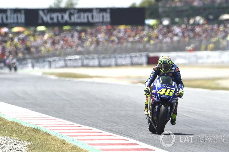 Valentino Rossi não encontrou o ritmo certo e finalizou em oitavo.