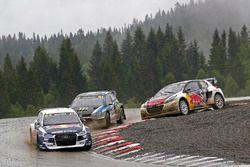 Mattias Ekström, EKS RX Audi S1, Petter Solberg, PSRX Volkswagen Sweden VW Polo GTI, Timmy Hansen, Team Peugeot Hansen