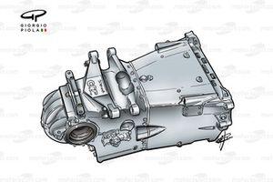 Minardi M02 2000 titanium gearbox casing