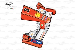Ferrari F1-2000 (651) 2000 Australia front wing