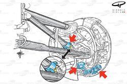 Lotus E20 front brake brake & suspension adjustment