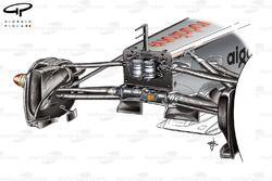 McLaren MP4/26 front suspension and fins