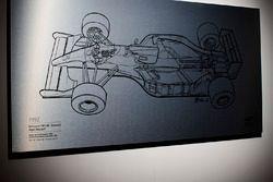 Giorgio Piola'nın Nigel Mansell 1992 Williams'ının çizimi