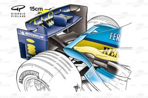 Renault R24 2004 Budapest rear wing