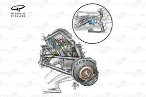 Williams FW25 2003 rear-end packaging detail