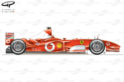 Vue latérale de la Ferrari F2003-GA (654)