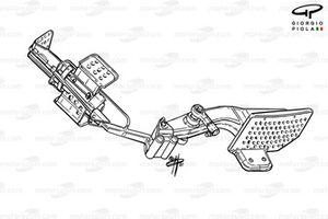 Ferrari F2001 pedal assembly