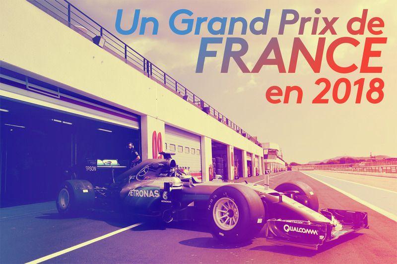 Le retour du GP de France en 2018