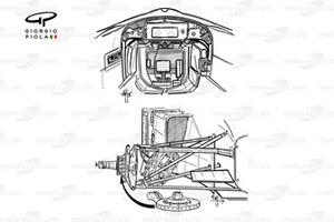 Ferrari F310B (648/2) 1997 cockpit and front suspension