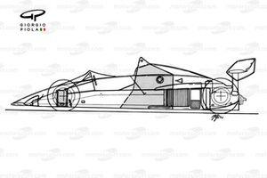 Vue d'ensemble schématique de la Brabham BT52B