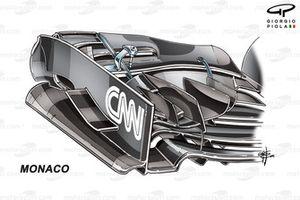 Торцевая пластина переднего антикрыла McLaren MP4-31. Версия, использовавшаяся до Гран При Канады