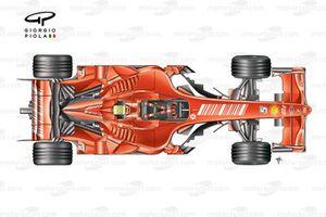 Ferrari F2007 top view