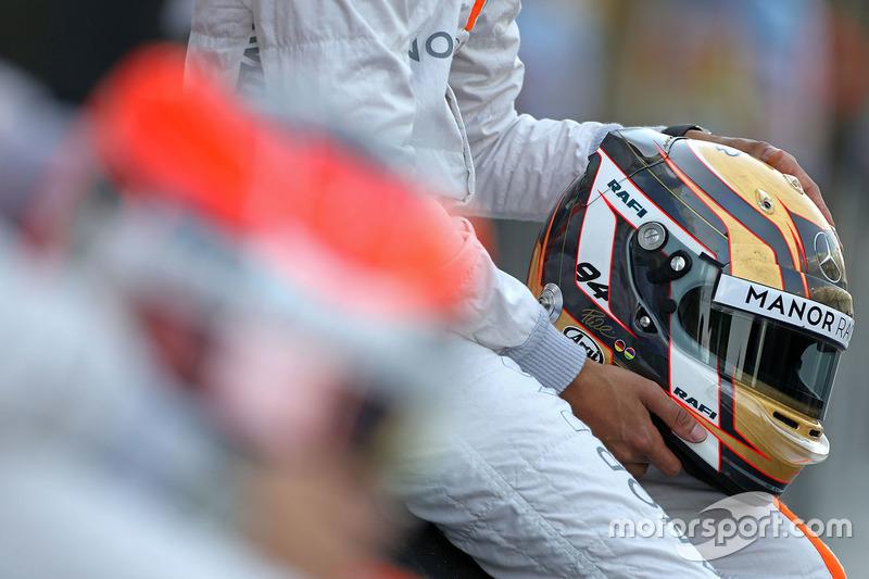 Helmet of Pascal Wehrlein, Manor Racing