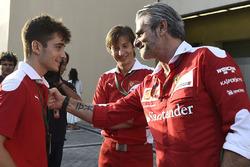 Charles Leclerc, Maurizio Arrivabene, Team Principal Ferrari