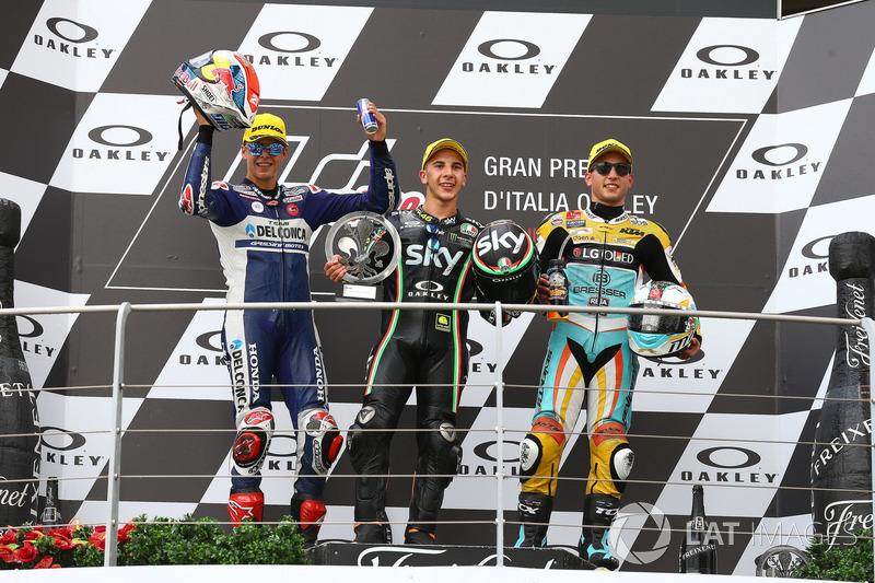 Podium: 1. Andrea Migno, Sky Racing Team VR46; 2. Fabio Di Giannantonio, Del Conca Gresini Racing Moto3; 3. Juan Francisco Guevara, RBA Racing Team