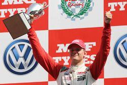 Podium: race winner Mick Schumacher