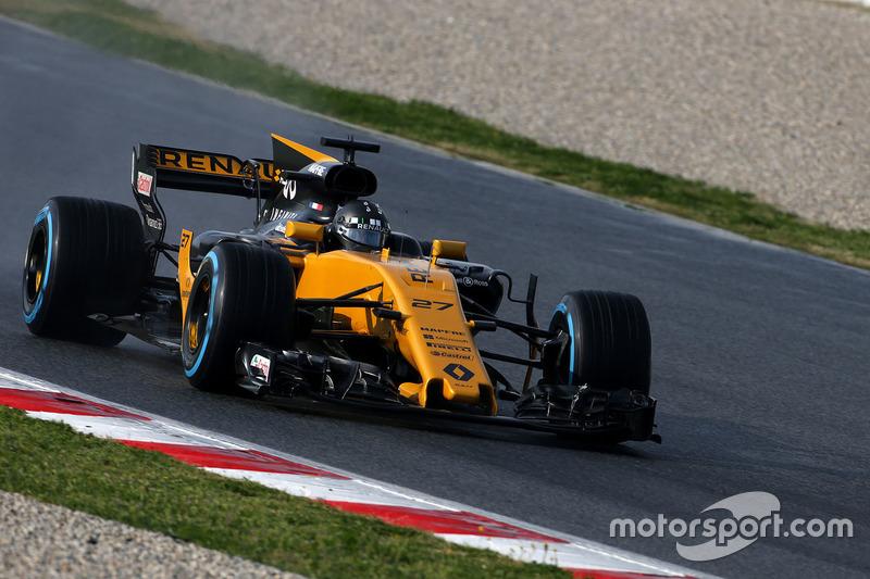 8: Nico Hulkenberg, Renault RS17, 1:21.791, softs, day 3 (150 laps)