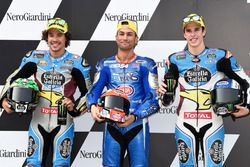 Top3 after qualifying, second place Franco Morbidelli, Marc VDS, Polesitter Mattia Pasini, Italtrans