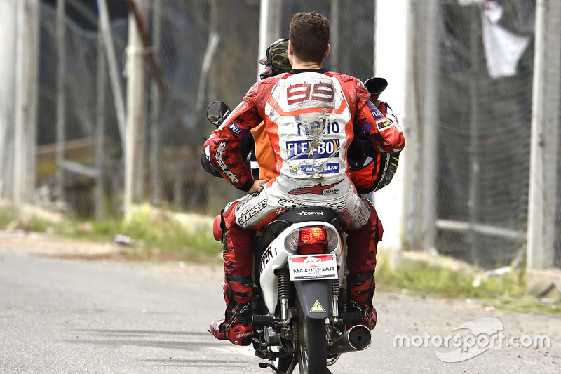 Jorge Lorenzo, Ducati Team, nach Sturz