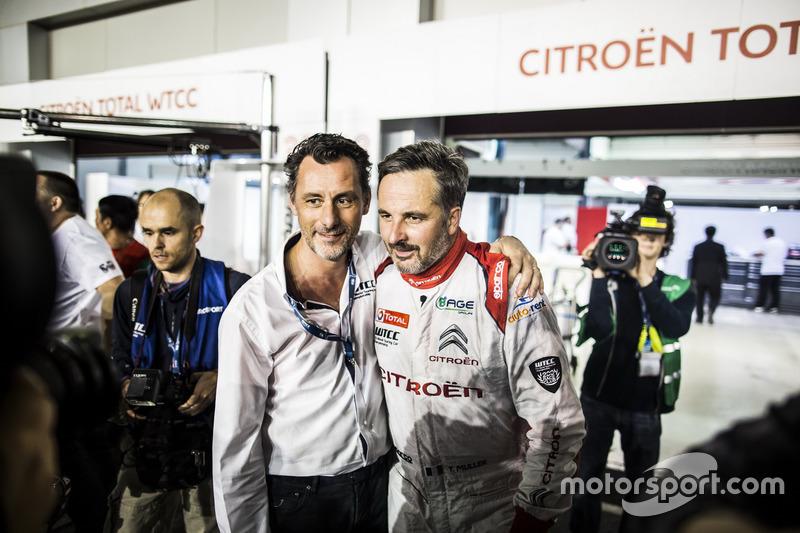 Yvan Muller, Citroën World Touring Car Team, Citroën C-Elysée WTCC with François Ribeiro, Eurosport Motorsport Director