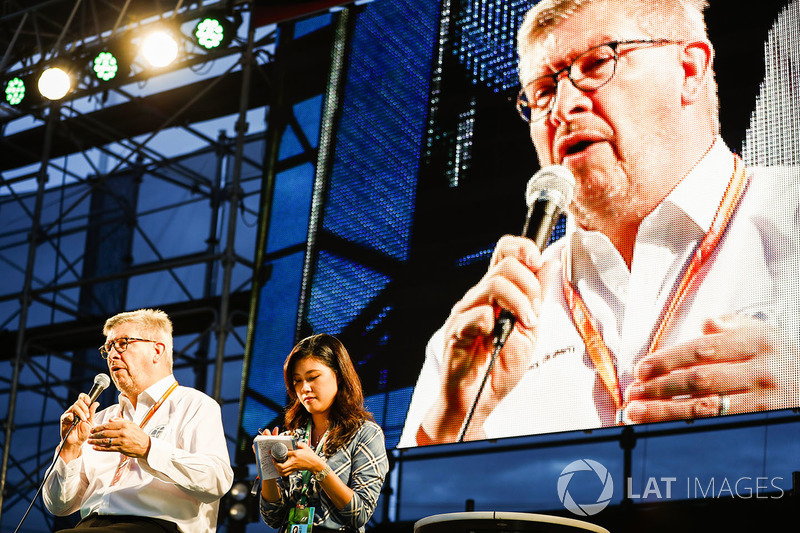 Ross Brawn, Motorsporları Direktörü, FOM, F1 Fanzone sahnesinde