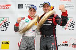 Podium: Sieger Dries Vanthoor, Markus Winkelhock, Land Motorsport