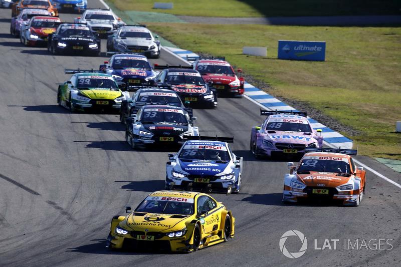 Arrancada Timo Glock, BMW Team RMG, BMW M4 DTM líder