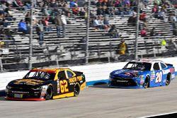 Brendan Gaughan, Richard Childress Racing Chevrolet and Erik Jones, Joe Gibbs Racing Toyota