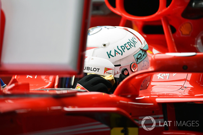 Vettel in the car