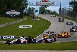 Ed Jones, Dale Coyne Racing Honda, Alexander Rossi, Herta - Andretti Autosport Honda