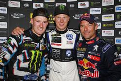 Podio: il vincitore Johan Kristoffersson, Volkswagen Team Sweden, il secondo classificato Andreas Bakkerud, Hoonigan Racing Division Ford, il terzo classificato Sébastien Loeb, Team Peugeot Hansen
