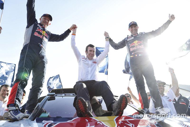 Ganadores, Stéphane Peterhansel, Jean-Paul Cottret, Peugeot Sport con Bruno Famin