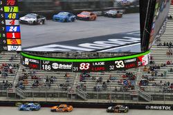 Kyle Larson, Chip Ganassi Racing Chevrolet, Joey Logano, Team Penske Ford, Martin Truex Jr., Furnitu