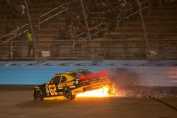 Brendan Gaughan, Richard Childress Racing, Chevrolet, Feuer