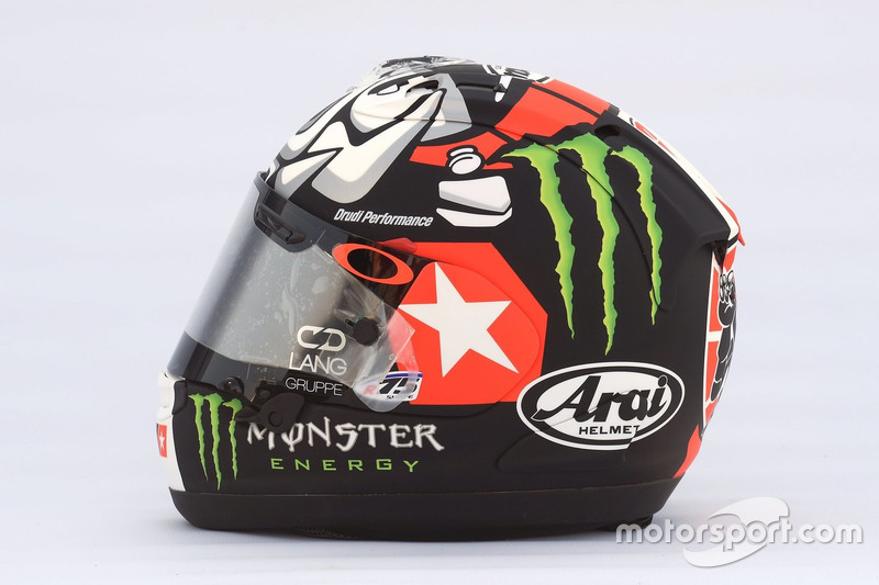Helmet of Maverick Viñales, Yamaha Factory Racing