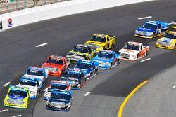 Christopher Bell, Kyle Busch Motorsports Toyota and Matt Crafton, ThorSport Racing Toyota