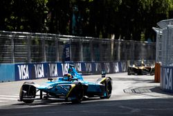Sébastien Buemi, Renault e.Dams. leads Jean-Eric Vergne, Techeetah