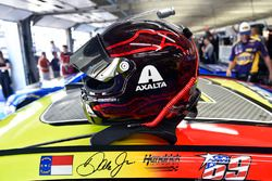 Nicky Hayden decal on the car of Dale Earnhardt Jr., Hendrick Motorsports Chevrolet