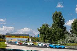 Start action, Nestor Girolami, Polestar Cyan Racing, Volvo S60 Polestar TC1 and Nicky Catsburg, Pole